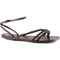 Chaussures Femme Sandales et Nu-pieds Gianluca - L'artigiano Del Cuoio 535 D MORO CUOIO Testa di Moro