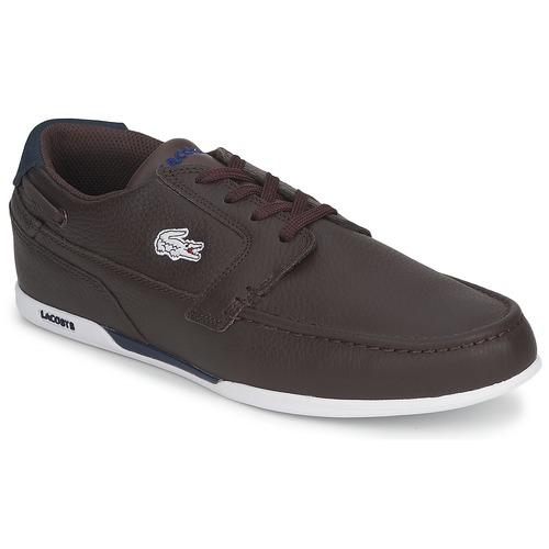 Chaussures Homme Chaussures bateau Lacoste DREYFUS MB Marron / Bleu