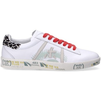 Chaussures Femme Baskets basses Premiata sneakers Andy bianco pelle Blanc
