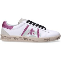 Chaussures Femme Baskets basses Premiata sneakers Andy glitter Blanc