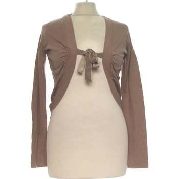 Vêtements Femme Gilets / Cardigans Autre Ton Gilet Femme  36 - T1 - S Marron