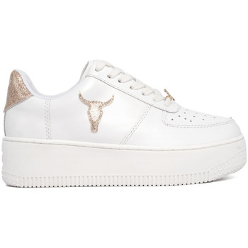 Chaussures Femme Baskets basses Windsor Smith RICH-GOLD-GLITTER BIANCO