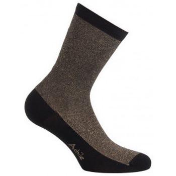 Accessoires textile Femme Chaussettes Achile Mi-chaussettes rayures Lurex en coton Noir