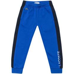 Vêtements Garçon Pantalons de survêtement Lacoste Pantalon jogging Logo Bleu