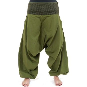 Vêtements Pantalons fluides / Sarouels Fantazia Pantalon sarwel mixte ethnique imprime retro Nadehu Kaki