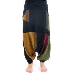 Vêtements Pantalons fluides / Sarouels Fantazia Sarouel mixte graphic ethnic Tapanga Kaki
