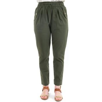 Vêtements Femme Pantalons Fantazia Pantalon carotte femme taille elastique kaki Kaki