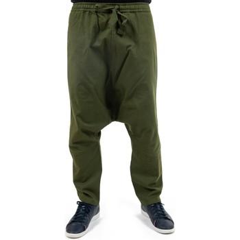 Vêtements Femme Pantalons fluides / Sarouels Fantazia Sarouel droit twill doux kaki Nino Kaki