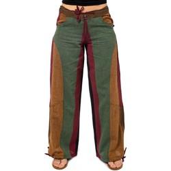 Vêtements Femme Pantalons fluides / Sarouels Fantazia Pantalon hybride babacool roots Urma Kaki