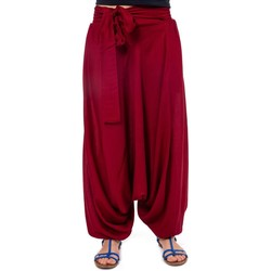 Vêtements Femme Pantalons fluides / Sarouels Fantazia Pantalon sarouel femme fluide chic Tawneeh Bordeaux