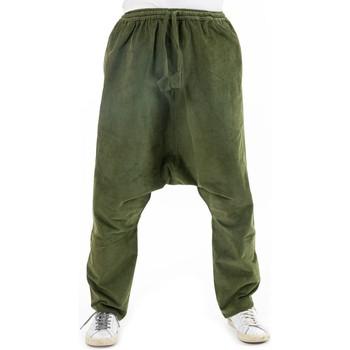 Vêtements Femme Pantalons fluides / Sarouels Fantazia Sarouel droit velours fines cotes Saradatuh Kaki