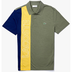 Vêtements Homme T-shirts & Polos Lacoste Polo  regular fit en maille ultra légère color-block Kaki