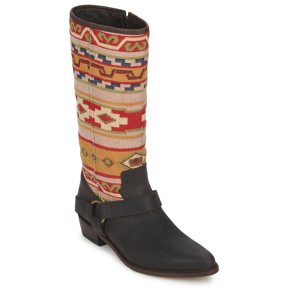 Botte ville Sancho Boots CROSTA TIBUR GAVA Marron-rouge