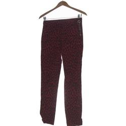 Vêtements Femme Pantalons Zara Pantalon Droit Femme  34 - T0 - Xs Rouge