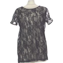 Vêtements Femme Tops / Blouses Autre Ton Top Manches Courtes  40 - T3 - L Noir
