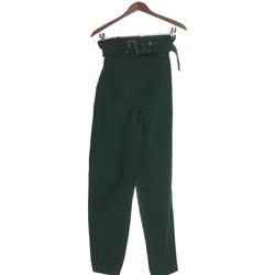 Vêtements Femme Pantalons H&M Pantalon Slim Femme  36 - T1 - S Vert