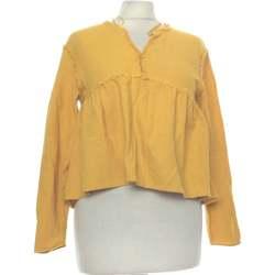 Vêtements Femme Tops / Blouses Zara Top Manches Longues  36 - T1 - S Jaune