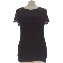 Vêtements Femme Tops / Blouses H&M Top Manches Courtes  36 - T1 - S Noir