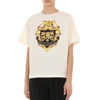 Vêtements Femme T-shirts & Polos Moschino Baroque-Pattern Print T-shirt Beige