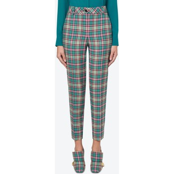 Vêtements Femme Pantalons Moschino Cropped Check Trousers Blue