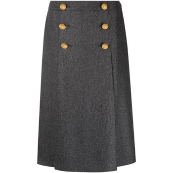 Vêtements Femme Jupes Moschino Double-Breasted Midi Skirt Grey