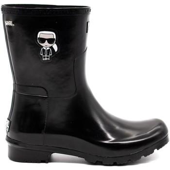 Chaussures Femme Bottes Karl Lagerfeld Ikonik Midi Ankle Boots Black