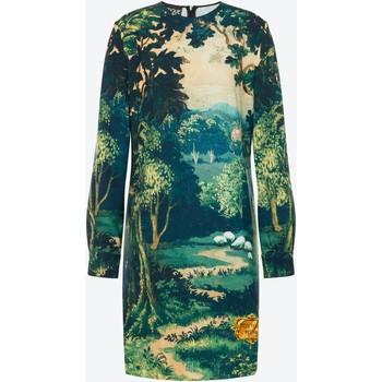 Vêtements Femme Robes Moschino Landscape Crepe Dress Green