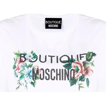 Vêtements Femme T-shirts & Polos Moschino Logo Print T-Shirt White