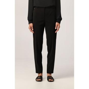 Vêtements Femme Pantalons Moschino Slim-Fit Trousers Black