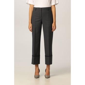 Vêtements Femme Pantalons Moschino Straight-Leg Cropped Trousers Grey