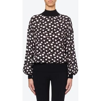 Vêtements Femme Tops / Blouses Moschino Sweet Sheep Viscose Blouse Black