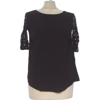 Vêtements Femme Tops / Blouses Etam Top Manches Courtes  34 - T0 - Xs Noir