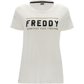 Vêtements Femme T-shirts manches courtes Freddy F1WCLT2 Beige
