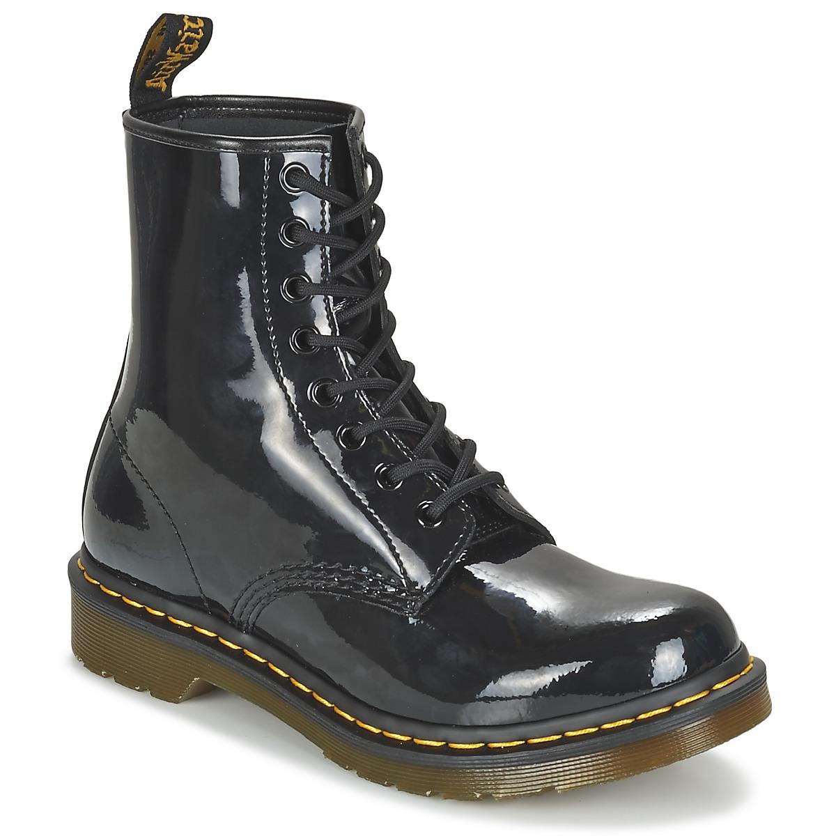 3d44a47e8bda Chaussures Femme Boots Dr Martens 1460 W Noir