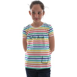 Vêtements Fille T-shirts manches courtes Little Marcel tess blanc