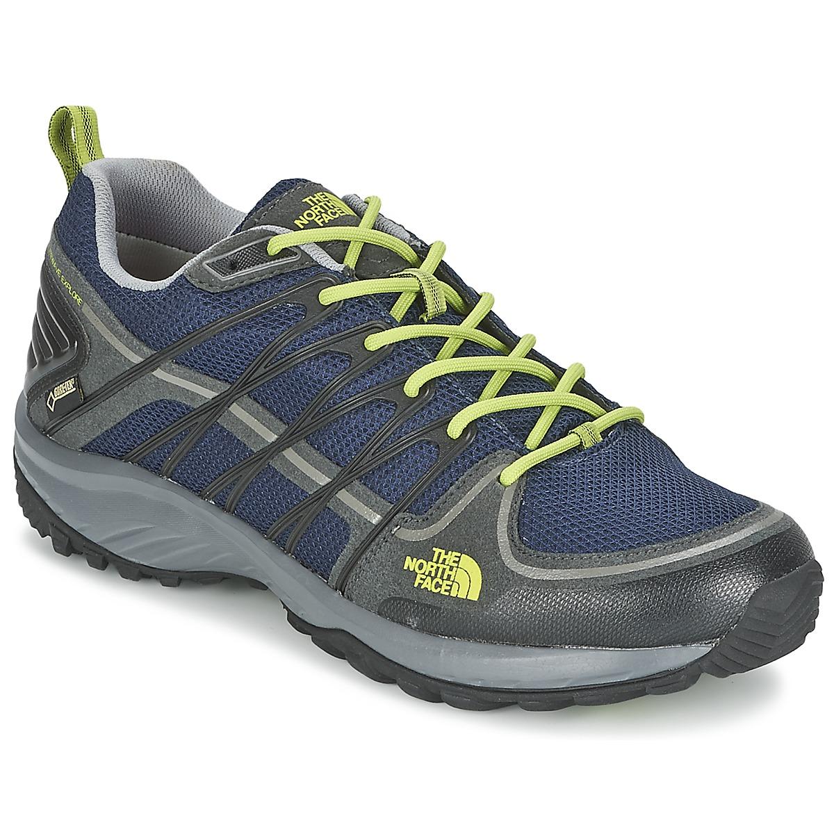 Chaussures-de-randonnee The North Face LITEWAVE EXPLORE GTX Bleu / Vert