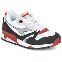 Chaussures Baskets basses Diadora N9000  NYL Blanc / Noir / Rouge