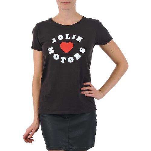Vêtements Femme T-shirts manches courtes Kulte LOUISA JOLIEMOTOR 101954 NOIR Noir