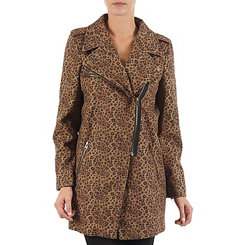 Vêtements Femme Manteaux Brigitte Bardot BB43110 Marron Leopard