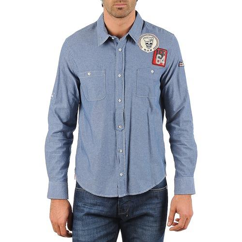 Chemises Mr Marcel NEBRASKA Bleu 350x350