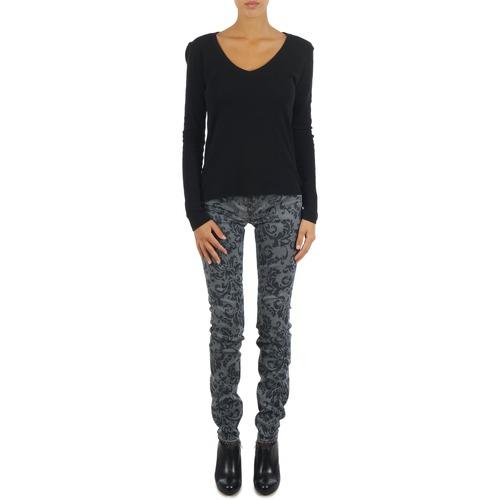 Vêtements Femme Jeans slim Gas TASCHE SUMATRA HIGH BLE BLACK GRIS