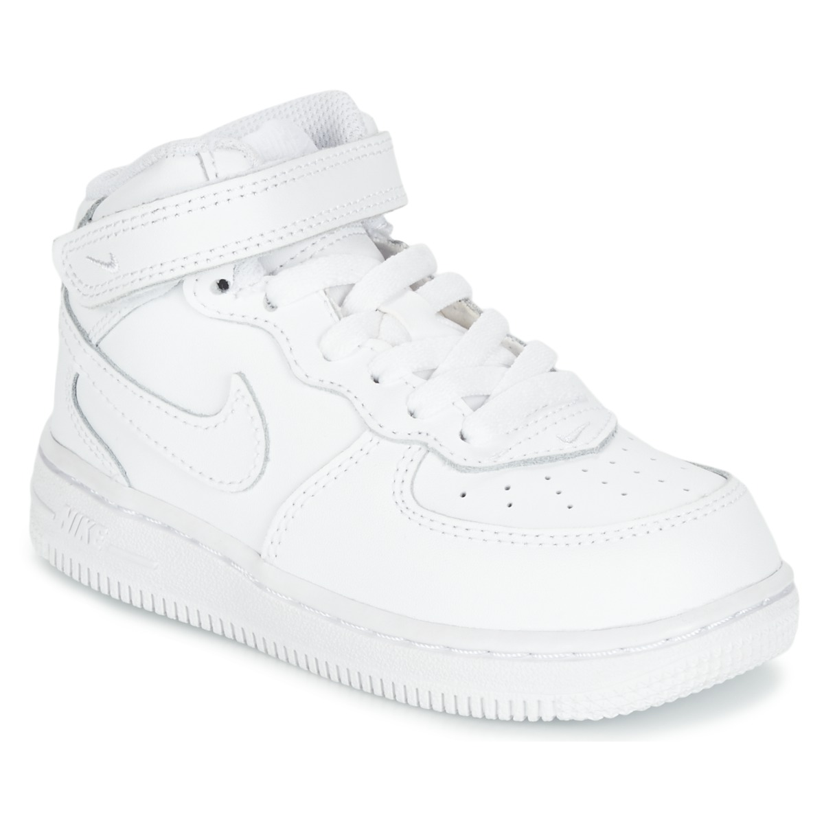 Basket montante Nike AIR FORCE 1 MID TODDLER Blanc