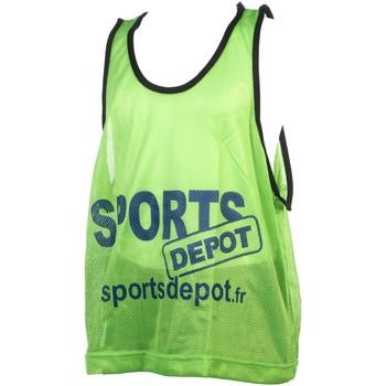 Vêtements Homme Débardeurs / T-shirts sans manche Les Fous Du Foot Sportdepot vert chasuble Vert