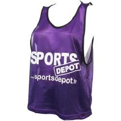 Vêtements Débardeurs / T-shirts sans manche Les Fous Du Foot Sportdepot vlt chasuble Violet