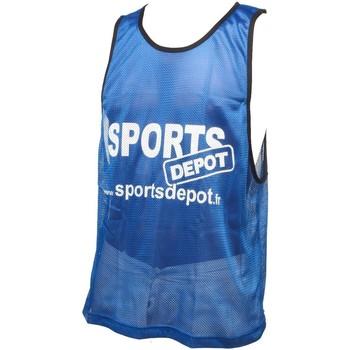 Vêtements Homme Débardeurs / T-shirts sans manche Les Fous Du Foot Sportdepot bleu chasuble Bleu moyen
