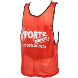 Vêtements Homme Débardeurs / T-shirts sans manche Les Fous Du Foot Sportdepot rouge chasuble Rouge