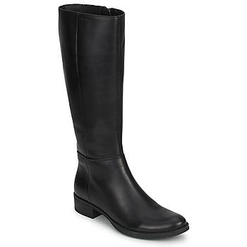 Chaussures Femme Bottes ville Geox MENDI STIVALI BASIC Noir