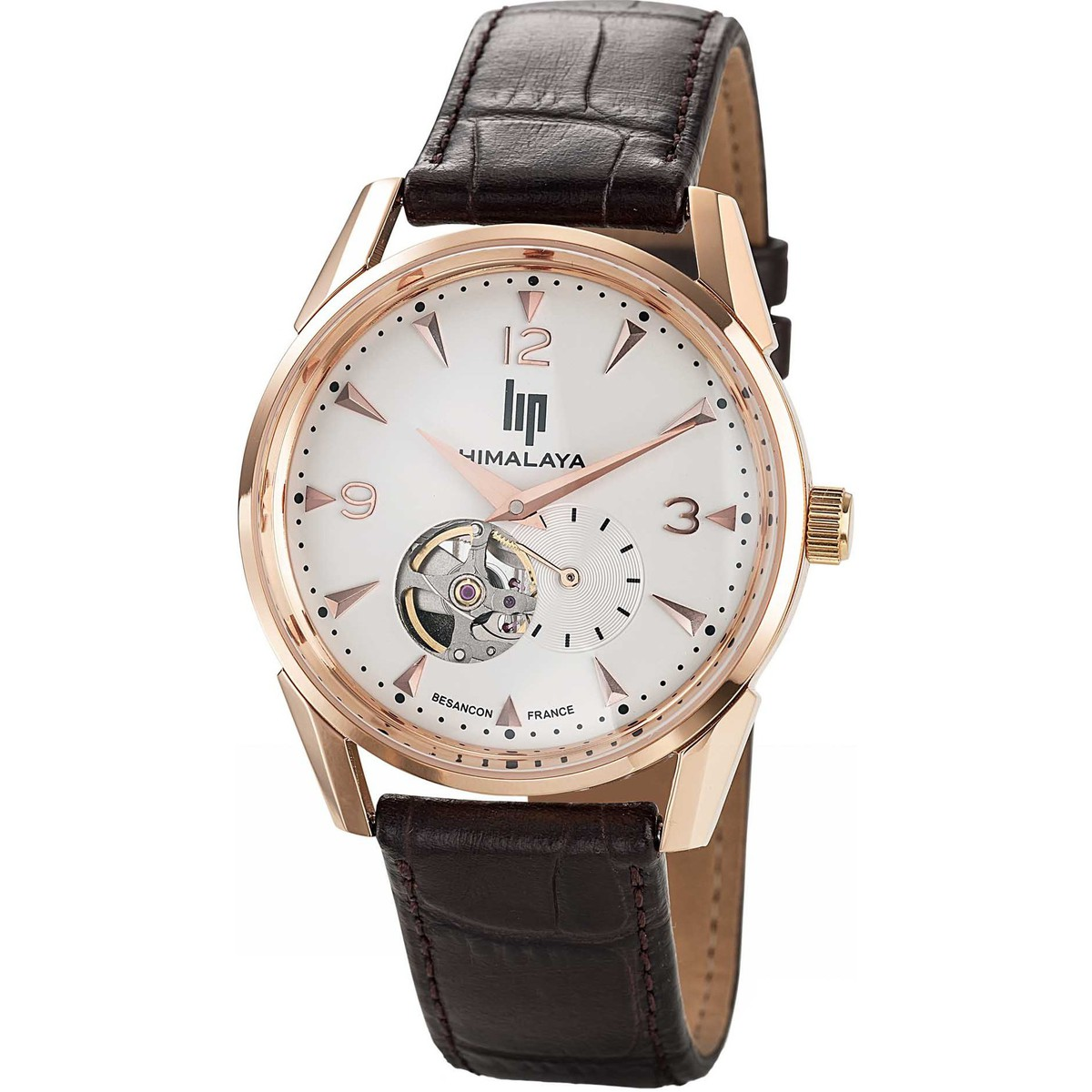 Lip Montre  HIMALAYA 1954 671254 - Montre Ronde Or rose Homme
