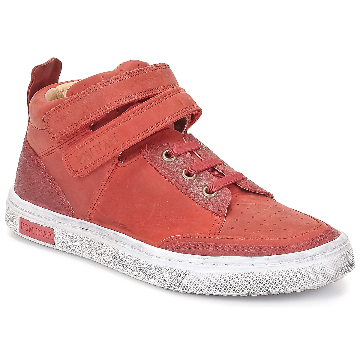 Basket montante Pom d'Api BACK BASKET Rouge