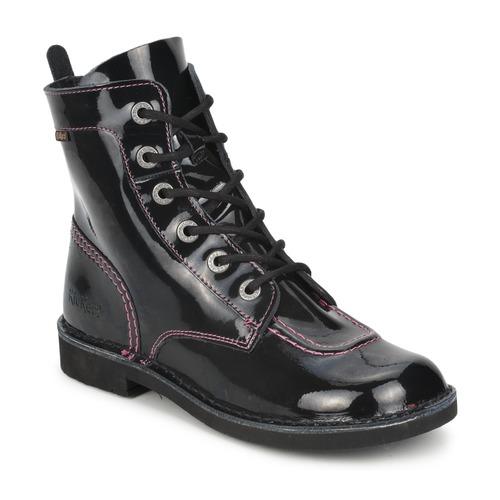 kickers kick mood noir vernis livraison gratuite avec chaussures boot enfant. Black Bedroom Furniture Sets. Home Design Ideas